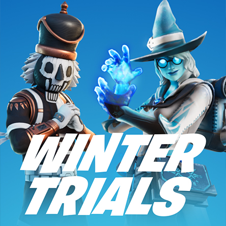 Epic Fortnite Winter Trials Landing Page